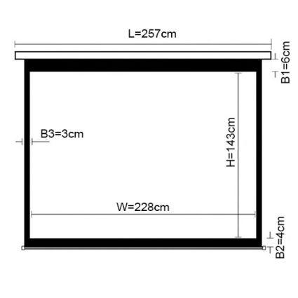 PSAX106 (16:10) Экран моторизированный 228*143