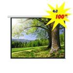 Экран для проектора моторизированный 200*150 PSAC100 (4:3)